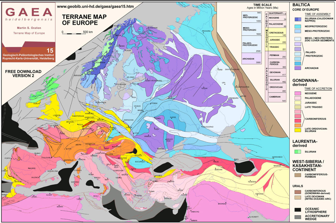Geologic Map Of Europe.All About Physical Map Of Europe Geology Kidskunst Info